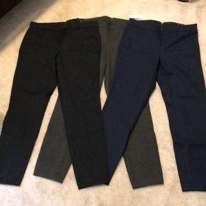J. Crew pixie pant bundle black/navy/grey